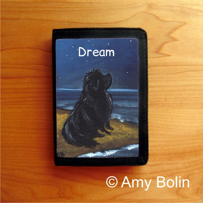 TRIFOLD WALLET · DREAM · BLACK NEWFOUNDLAND · AMY BOLIN