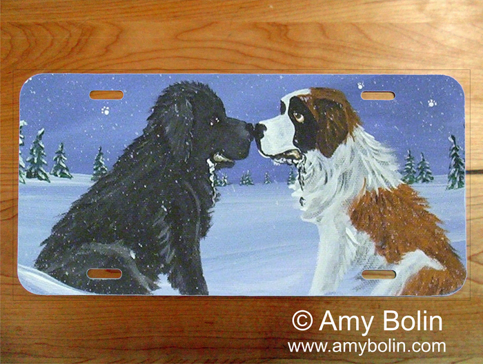 LICENSE PLATE · A COLD, WET HELLO · SAINT BERNARD · AMY BOLIN