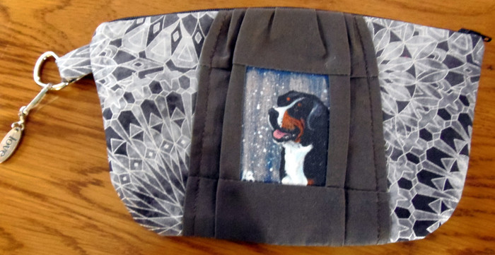 "Handmade Coin or make-up Purse     ""Swissy""    Greater Swiss Mountain Dog     By Dawn Johnson"