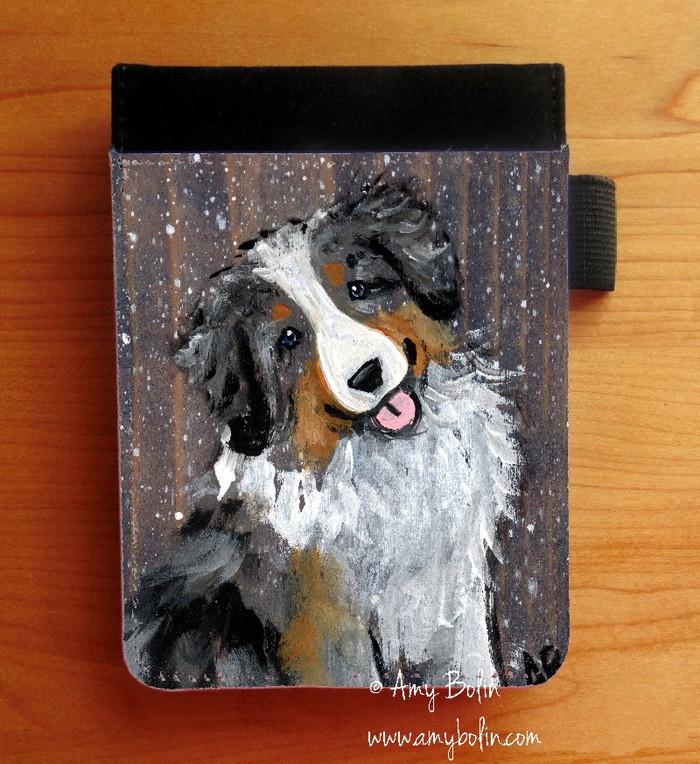 """Let It Snow"" Australian Shepherd Notebooks (Several Sizes Available)"