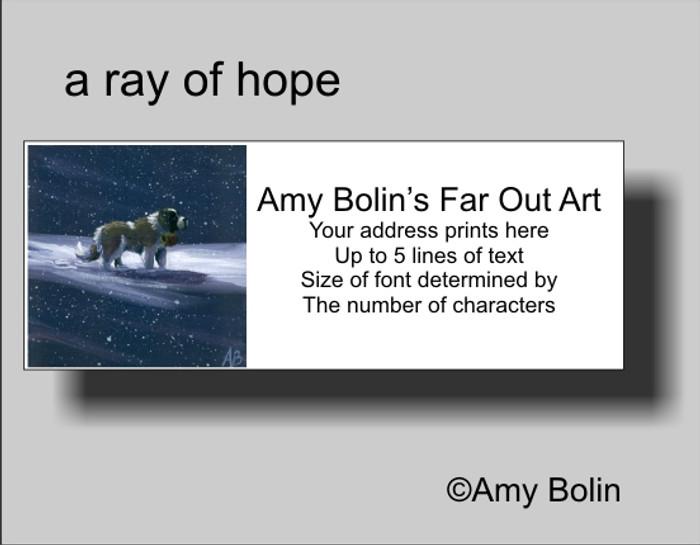 """A Ray Of Hope"" Saint Bernard Address Labels"