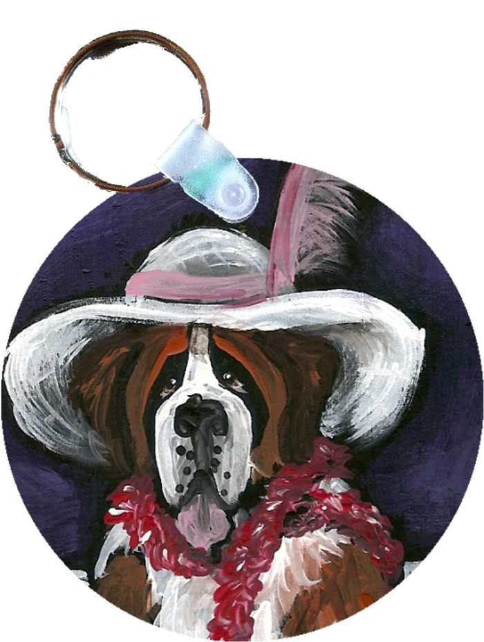 KEY CHAIN · ALL DRESSED UP (WITH NOWHERE TO GO) · SAINT BERNARD  · AMY BOLIN