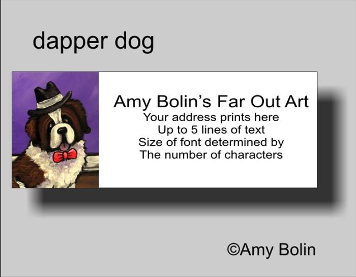 ADDRESS LABELS · DAPPER DOG · SAINT BERNARD · AMY BOLIN