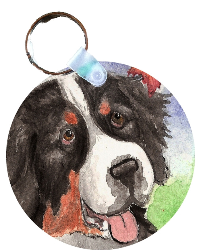 KEY CHAIN · AUTUMN BERNER · BERNESE MOUNTAIN DOG  · AMY BOLIN