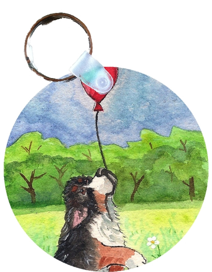 KEY CHAIN · FLY AWAY · BERNESE MOUNTAIN DOG  · AMY BOLIN