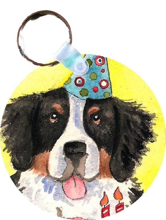 KEY CHAIN · HAPPY BIRTHDAY TO YOU · BERNESE MOUNTAIN DOG  · AMY BOLIN