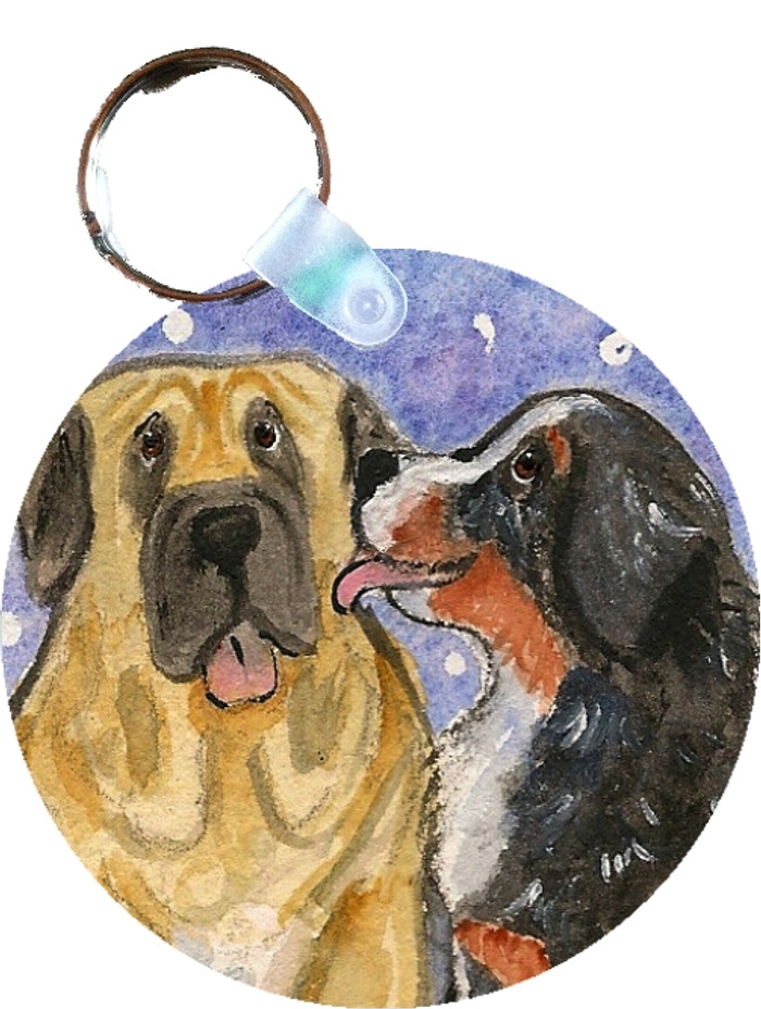KEY CHAIN · LITTLE KISS  · BERNESE MOUNTAIN DOG, MASTIFF · AMY BOLIN