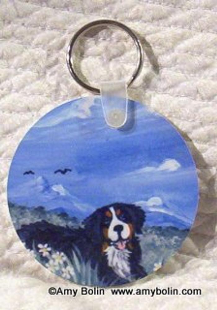 KEY CHAIN · MOUNTAIN HOME · BERNESE MOUNTAIN DOG · AMY BOLIN