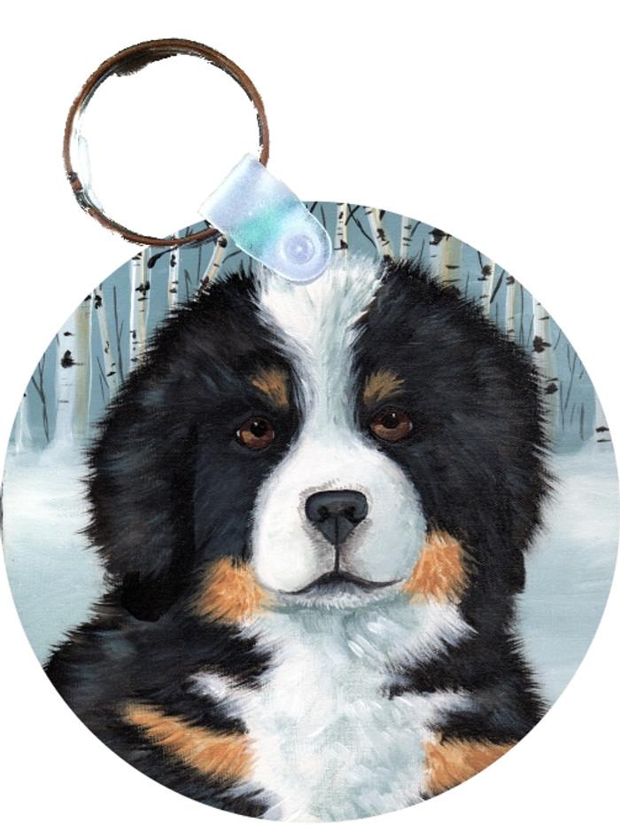 KEY CHAIN · PUPPY EYES · BERNESE MOUNTAIN DOG · AMY BOLIN