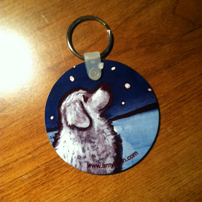 KEY CHAIN · COUNTING SNOWFLAKES · GREAT PYRENEES  · AMY BOLIN
