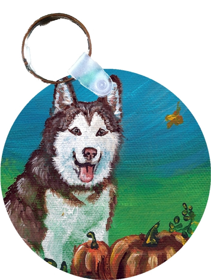 KEY CHAIN · AUTUMN'S SIMPLE PLEASURES · HUSKY  · AMY BOLIN