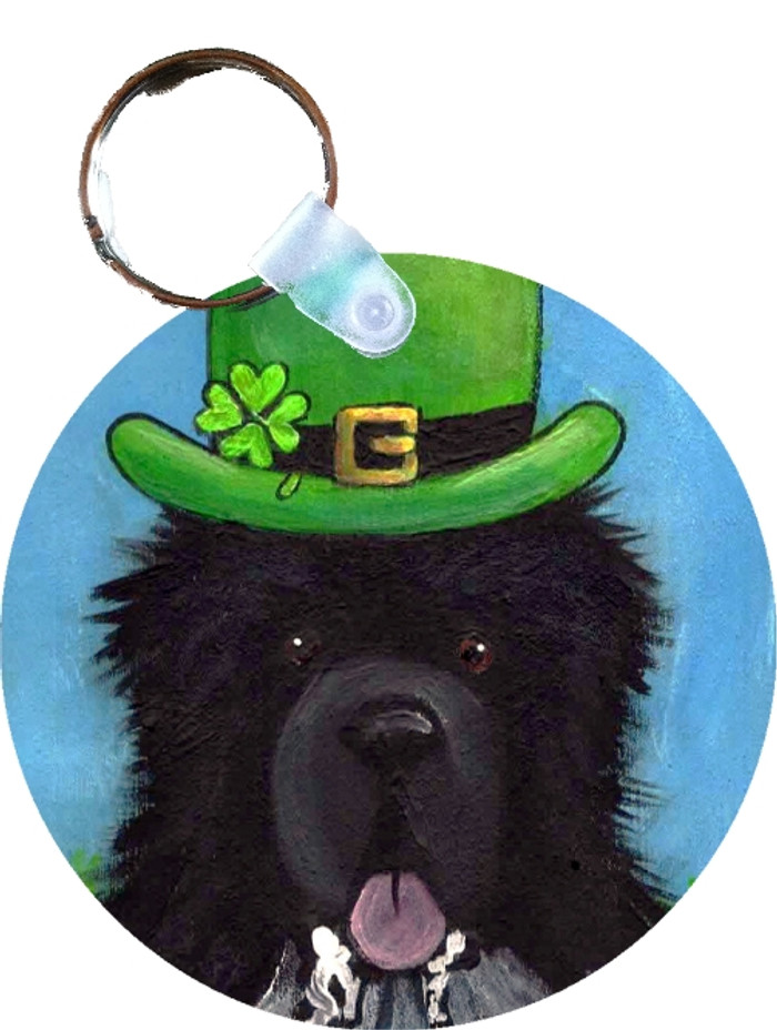 KEY CHAIN · A BIG, WET IRISH KISS · IRISH SPOTTED NEWFOUNDLAND · AMY BOLIN