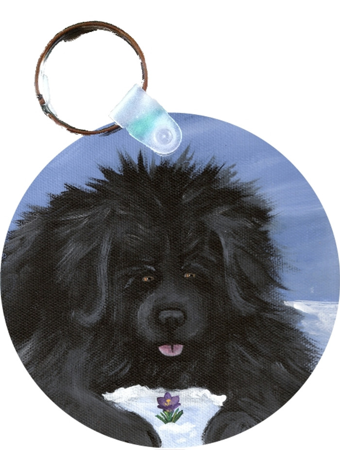 KEY CHAIN · SPRING IS IN THE AIR BLACK NEWF · NEWFOUNDLANDS  · AMY BOLIN