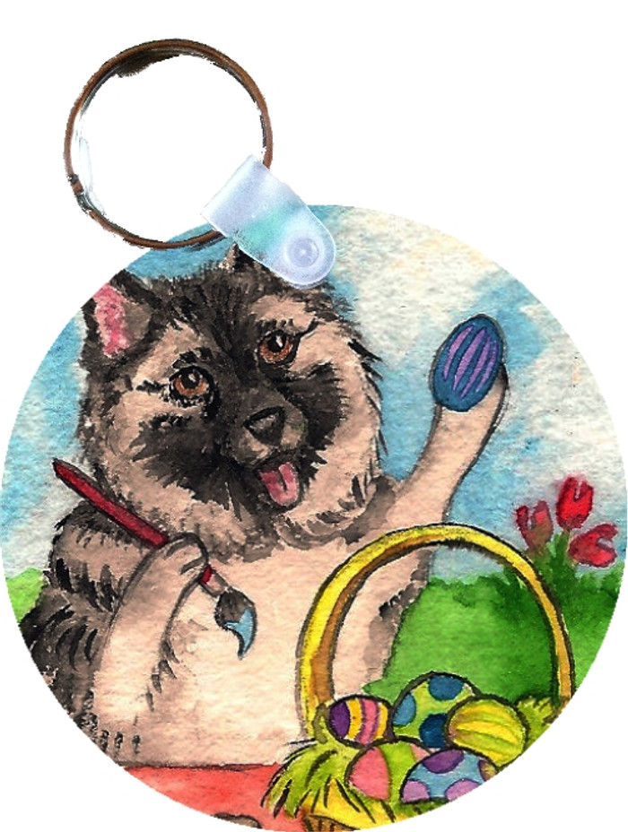 KEY CHAIN · EASTER EGG ARTIST · NORWEGIAN ELKHOUND  · AMY BOLIN