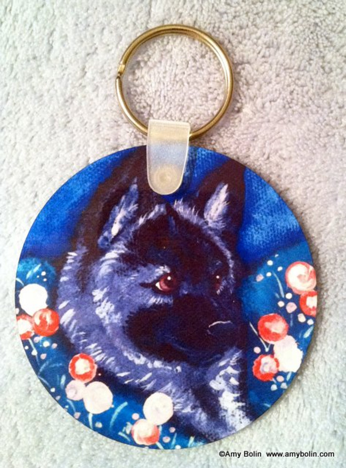 KEY CHAIN · MOM'S FAVORITE FLOWER · NORWEGIAN ELKHOUND  · AMY BOLIN