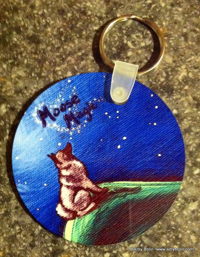 KEY CHAIN · MOOSE MAGIC · NORWEGIAN ELKHOUND  · AMY BOLIN