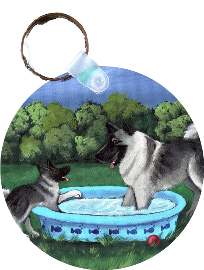 KEY CHAIN · SUMMER'S SIMPLE PLEASURES · NORWEGIAN ELKHOUND  · AMY BOLIN