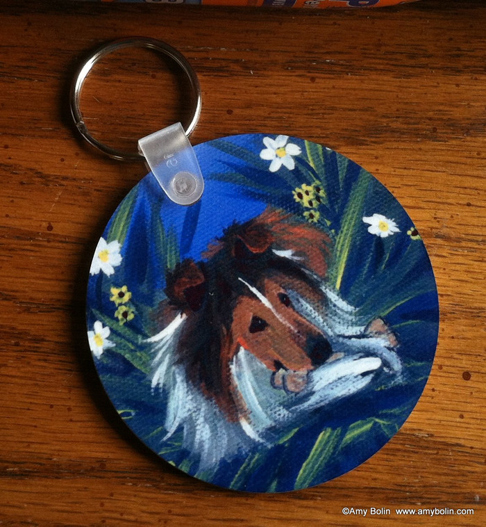 KEY CHAIN · A SECRET TREAT · SABLE SHELTIE  · AMY BOLIN