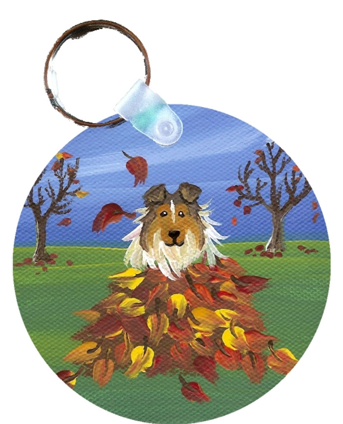 KEY CHAIN · AUTUMN'S SIMPLE PLEASURES · SABLE SHELTIE  · AMY BOLIN