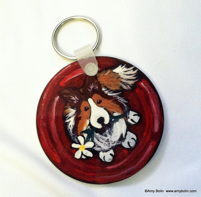 KEY CHAIN · BE MINE · SABLE SHELTIE  · AMY BOLIN