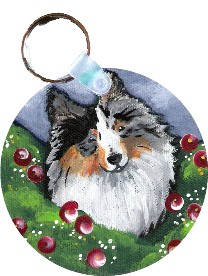 KEY CHAIN · ELLA · BLUE MERLE SHELTIE  · AMY BOLIN