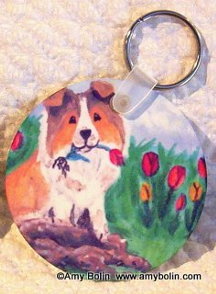 KEY CHAIN · LITTLE GARDENER · SABLE SHELTIE  · AMY BOLIN