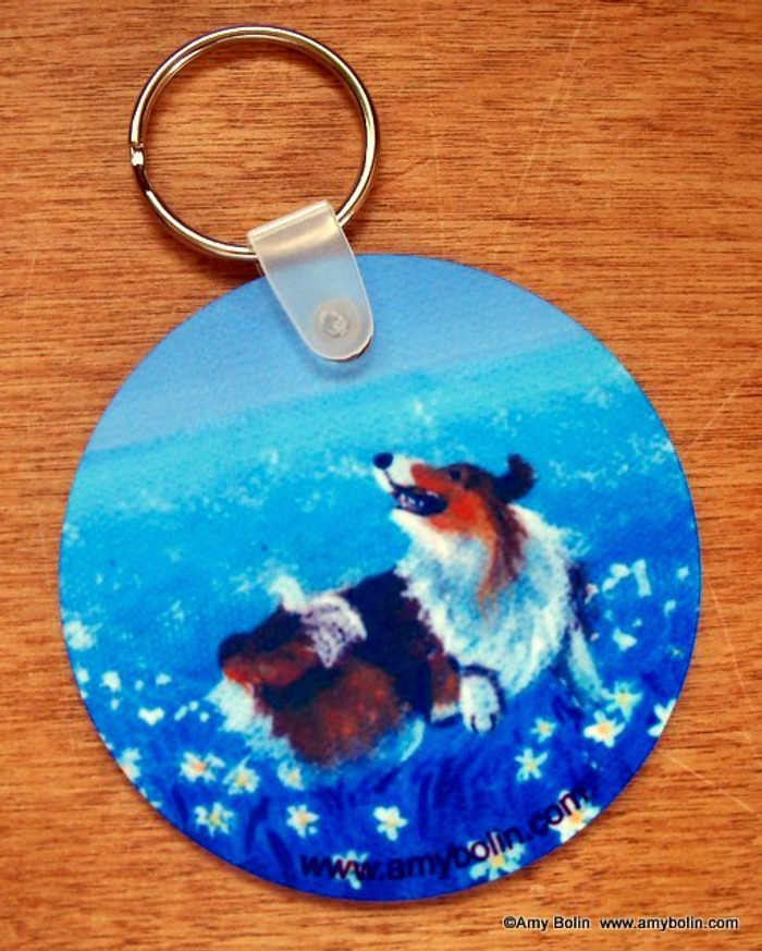 KEY CHAIN · SHELTIE HAPPY DANCE · SABLE SHELTIE  · AMY BOLIN