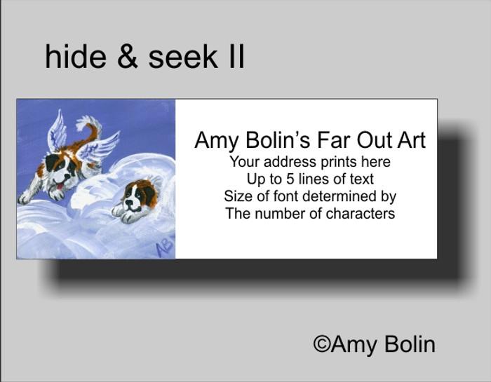 ADDRESS LABELS · HEAVENLY HIDE & SEEK · SAINT BERNARD · AMY BOLIN