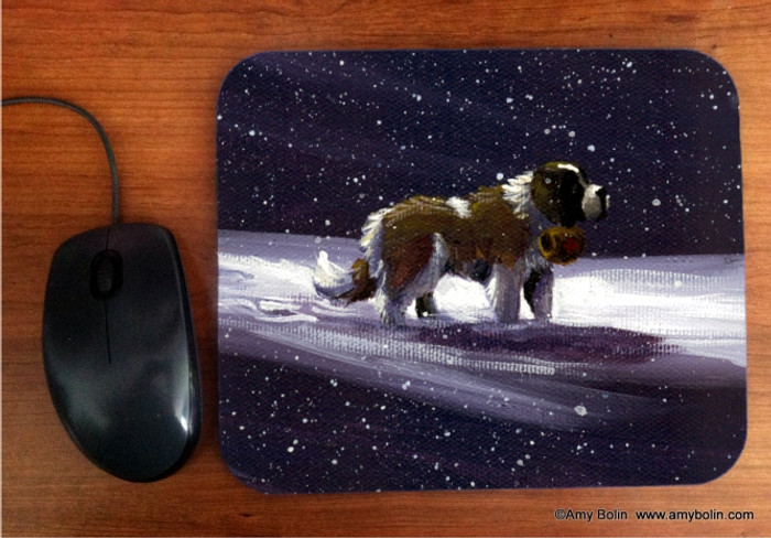 MOUSE PAD · A RAY OF HOPE · SAINT BERNARD · AMY BOLIN