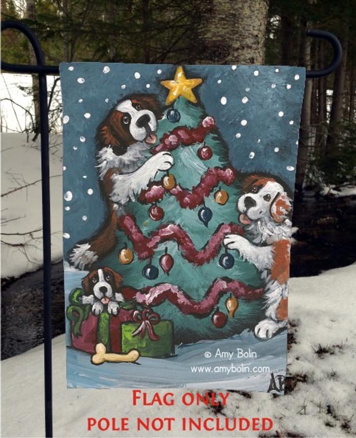 GARDEN FLAG · CHRISTMAS TOGETHER · SAINT BERNARD · AMY BOLIN