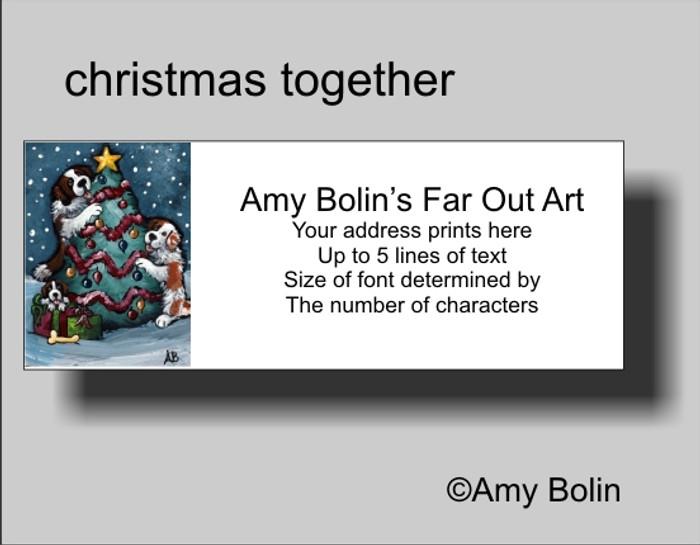 ADDRESS LABELS · CHRISTMAS TOGETHER · SAINT BERNARD · AMY BOLIN