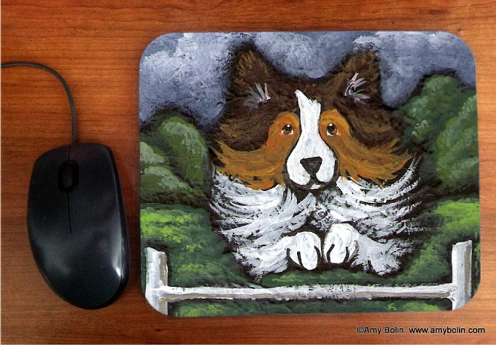 MOUSE PAD · AGILITY QUEEN · SABLE  SHELTIE · AMY BOLIN