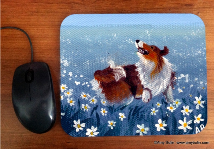 MOUSE PAD · SHELTIE HAPPY DANCE · SABLE SHELTIE · AMY BOLIN
