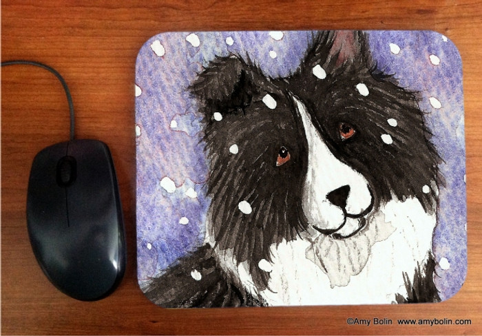 MOUSE PAD · SNOWY BI BLACK · BI BLACK SHELTIE · AMY BOLIN