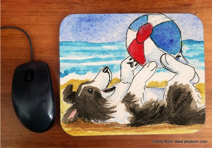 MOUSE PAD · SUMMER FUN · BI BLACK  SHELTIE · AMY BOLIN