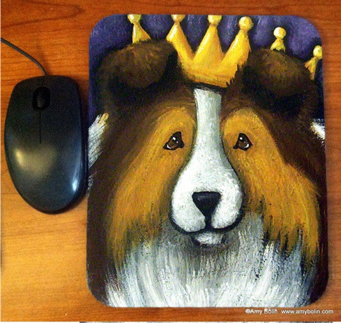 MOUSE PAD · THE QUEEN · SABLE  SHELTIE · AMY BOLIN