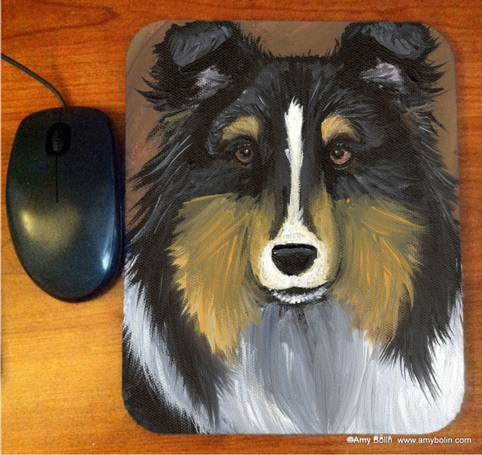 MOUSE PAD · TRI COLOR SHELTIE · TRI COLOR  SHELTIE · AMY BOLIN