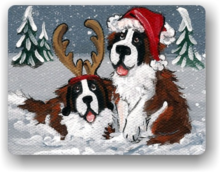 MAGNET · CHRISTMAS BUDDIES · SAINT BERNARD · AMY BOLIN