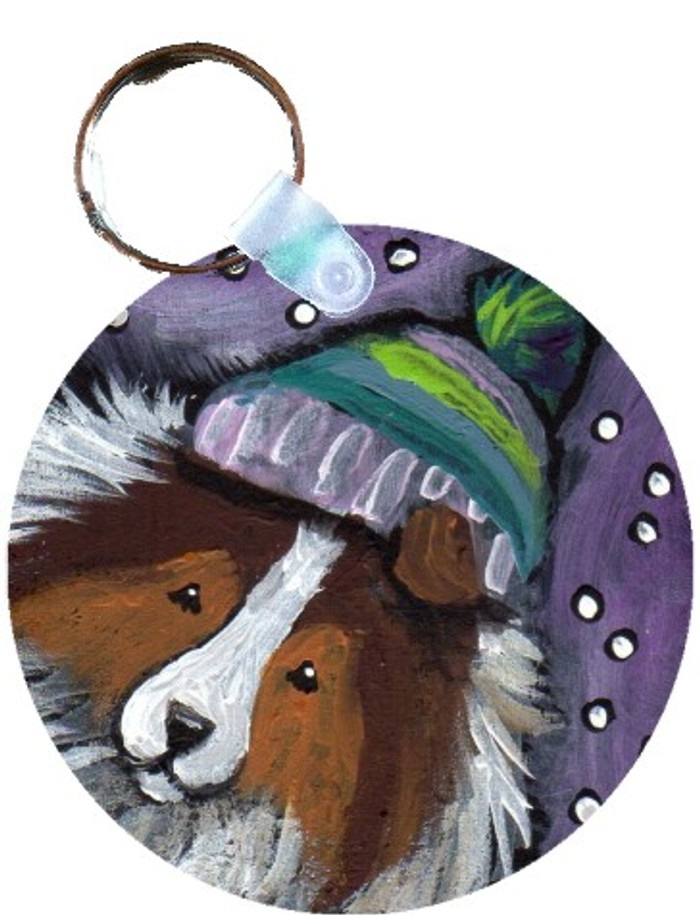 KEY CHAIN · SNOWY WEATHER · SABLE SHELTIE · AMY BOLIN