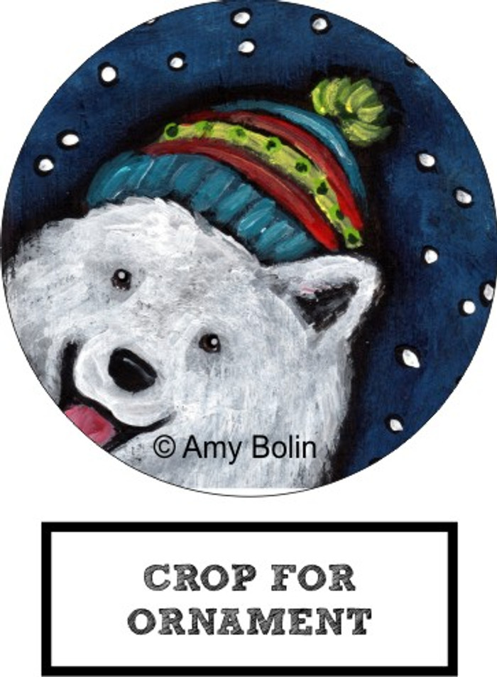 CERAMIC ORNAMENT · SNOWY WEATHER · SAMOYED · AMY BOLIN