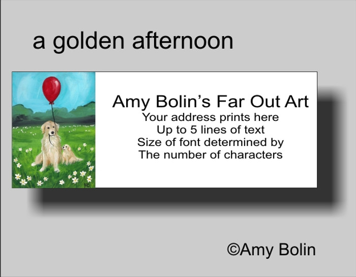 """A Golden Afternoon"" Golden Retriever Address Labels"