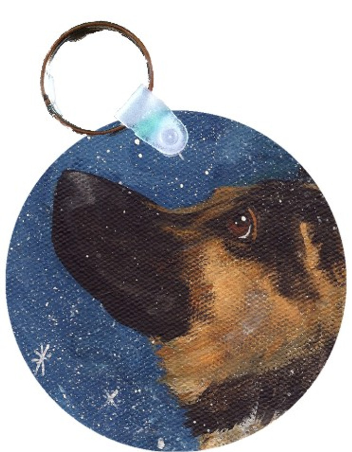 KEY CHAIN · WISH UPON A SNOWFLAKE · GERMAN SHEPHERD · AMY BOLIN