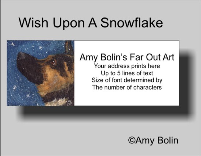 """Wish Upon A Snowflake"" German Shepherd Address Labels"