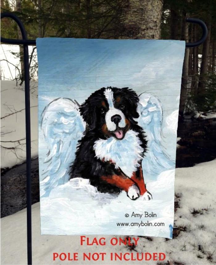 GARDEN FLAG · MY SWEET ANGEL · BERNESE MOUNTAIN DOG · AMY BOLIN