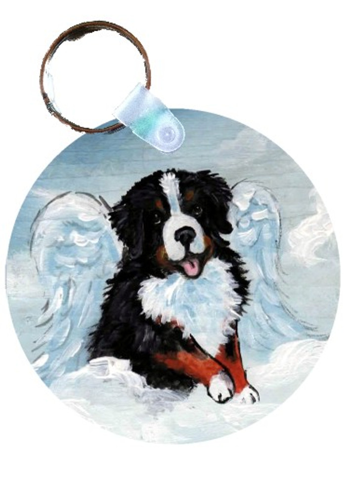 KEY CHAIN · MY SWEET ANGEL  · BERNESE MOUNTAIN DOG · AMY BOLIN