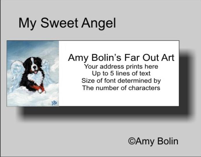 """My Sweet Angel"" Bernese Mountain Dog Address Labels"