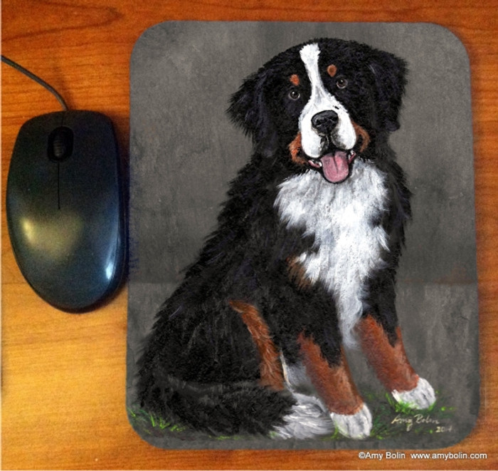 MOUSE PAD · MERLIN · BERNESE MOUNTAIN DOG · AMY BOLIN