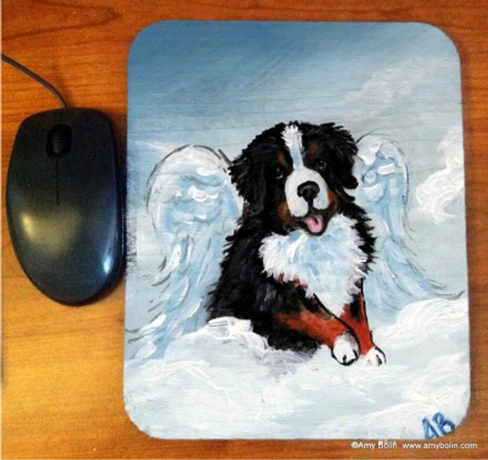 MOUSE PAD · MY SWEET ANGEL · BERNESE MOUNTAIN DOG · AMY BOLIN