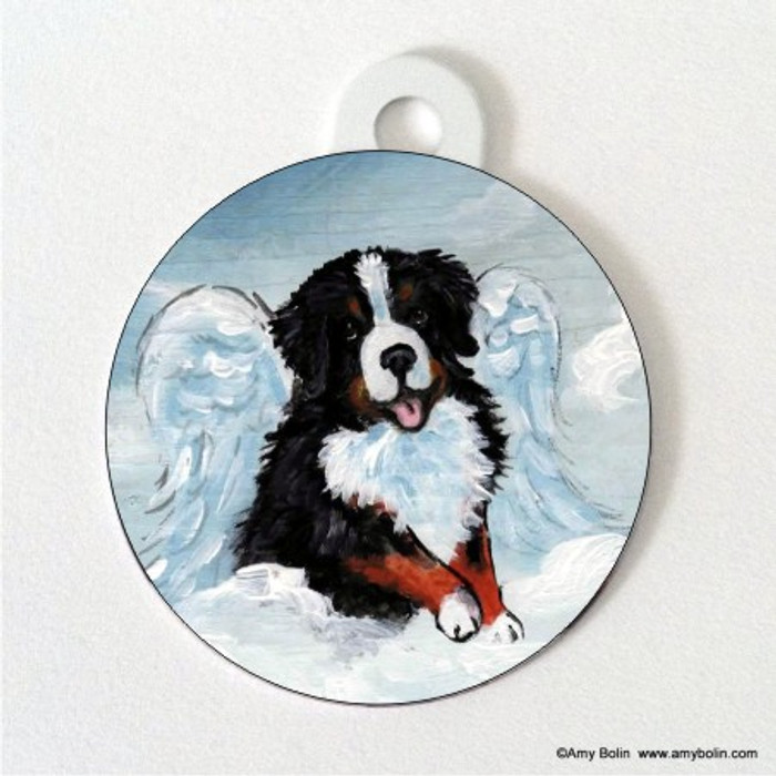DOUBLE SIDED PET ID TAG · MY SWEET ANGEL · BERNESE MOUNTAIN DOG · AMY BOLIN