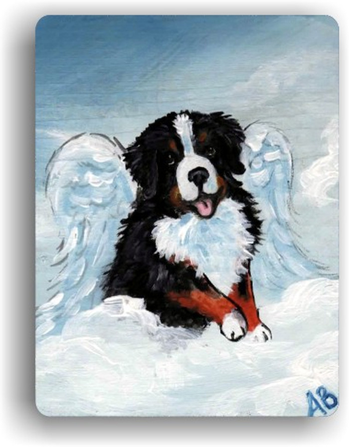 MAGNET · MY SWEET ANGEL · BERNESE MOUNTAIN DOG · AMY BOLIN